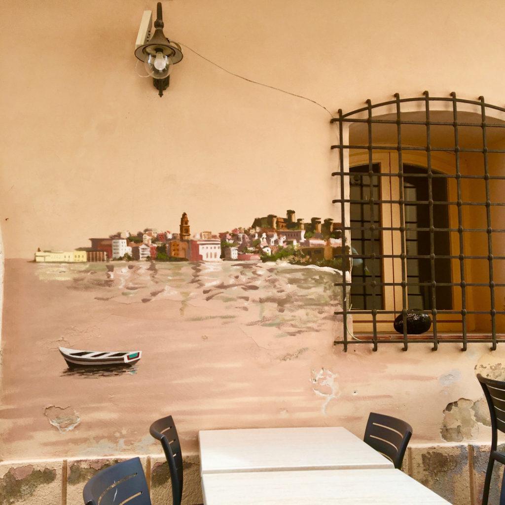 dettaglio murales Gaeta - mare a Sperlonga e Gaeta