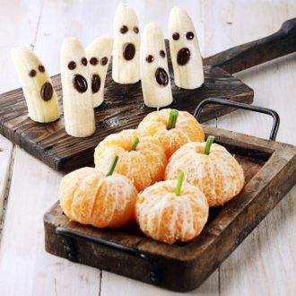 dolci di halloween con frutta