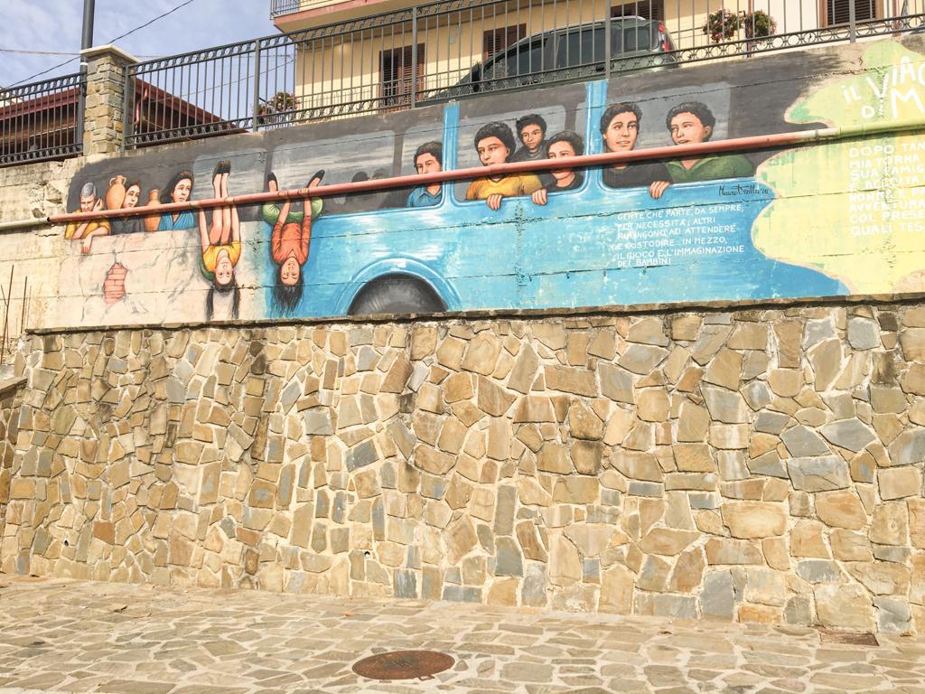 murales Piano Vetrale borghi del Cilento